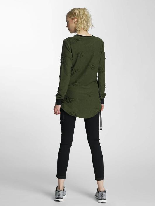 Paris Premium Pullover Destroyed green