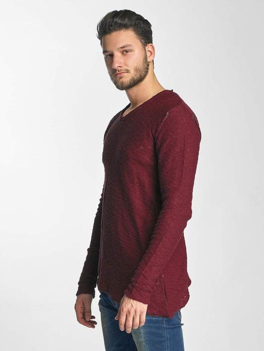 Red Bridge Pullover Asymmetrical Line red