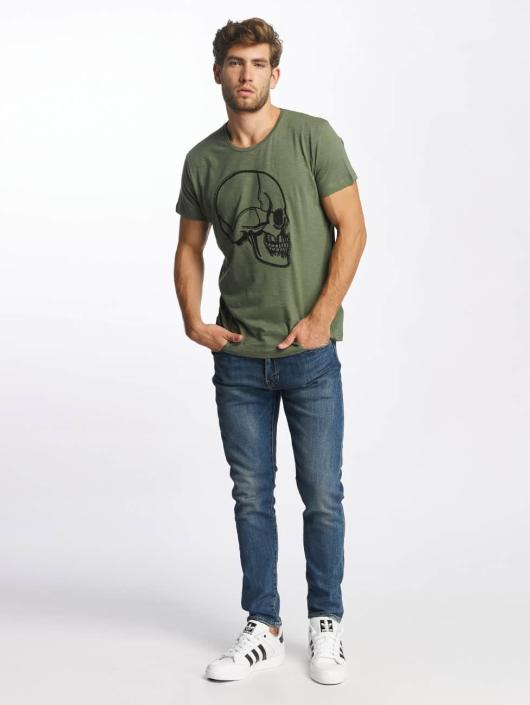 Red Bridge T-Shirt Stiched Skull khaki