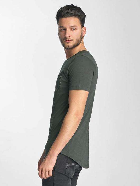 Red Bridge T-Shirt Leather Rivets olive