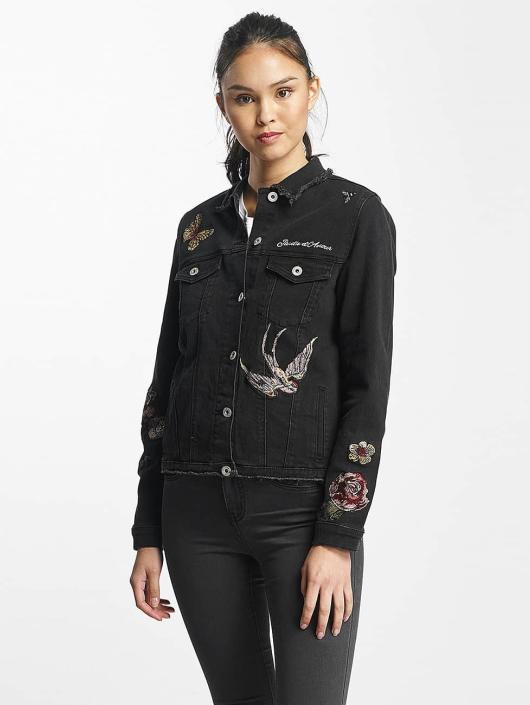 Rock Angel Denim Jacket Nia Embroideries black