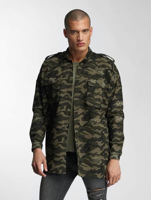 Sixth June Shirt Oversized Destroyed camouflage