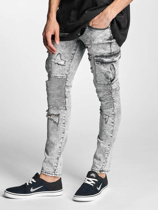 Sixth June Slim Fit Jeans Biker Cargo gray