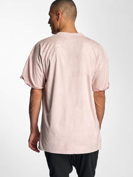 Sixth June T-Shirt Destroyed Overside Suede rose