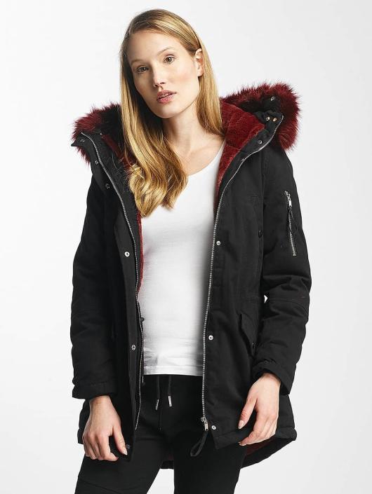 Sixth June Winter Jacket Oversize With Fake Fur Hood Classic black