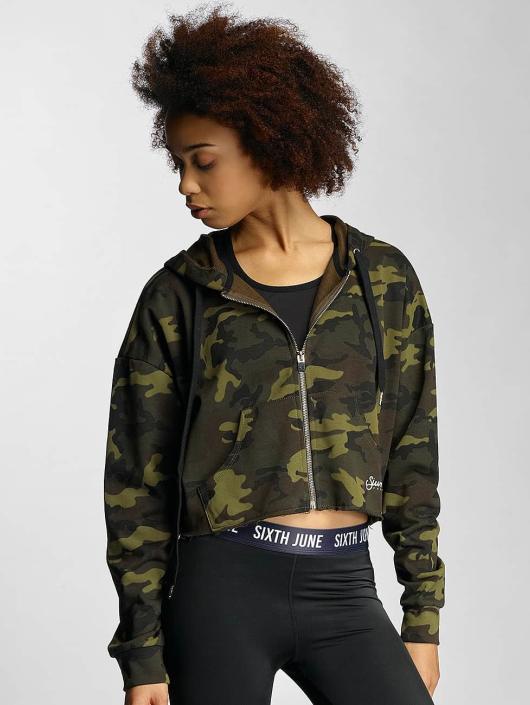 Sixth June Zip Hoodie Oversized camouflage