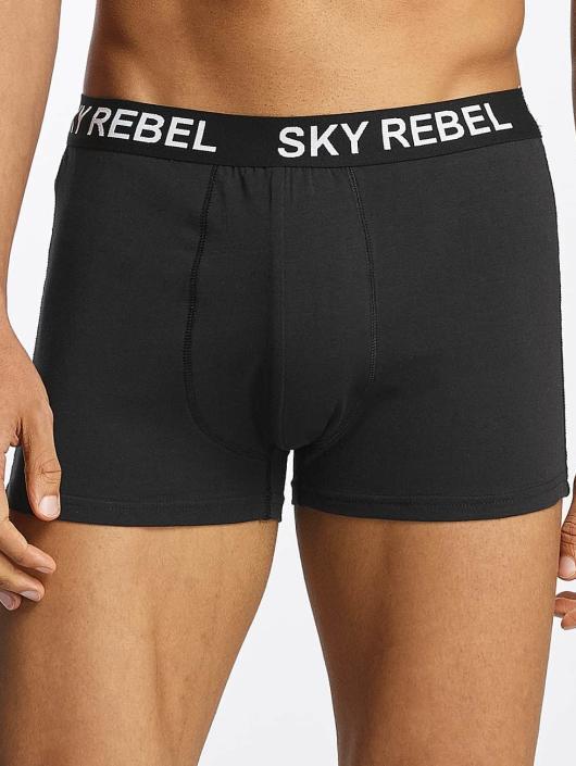 Sky Rebel Underwear Double Pack Logo black