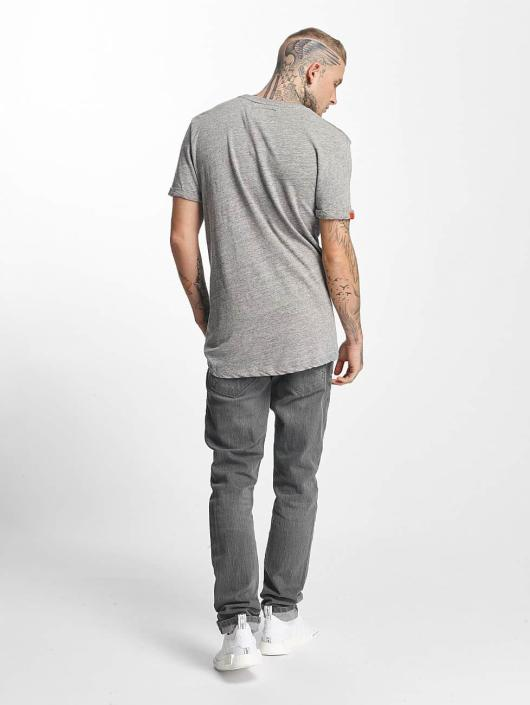 Superdry T-Shirt Varsity Long Line gray