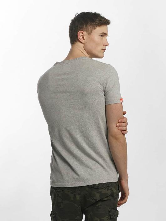 Superdry T-Shirt Orange Label Vintage Embroidered gray