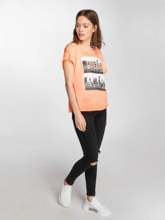 Superdry T-Shirt Miami Palm gray