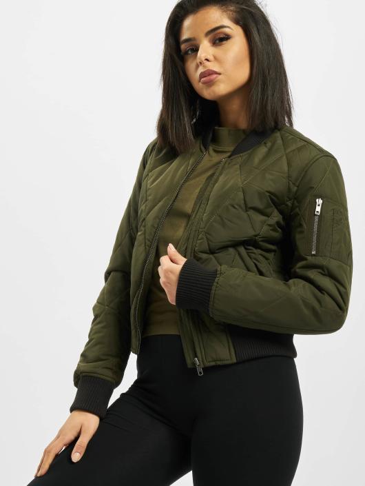 Urban Classics Bomber jacket Diamond Quilt Short olive
