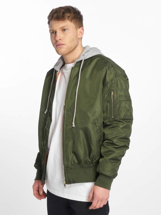 Urban Classics Bomber jacket Hooded Oversized olive