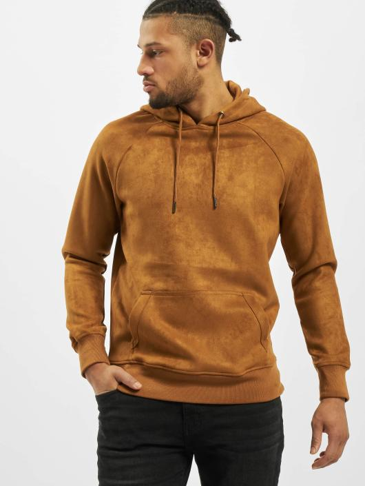 Urban Classics Hoodie Imitation Suede brown