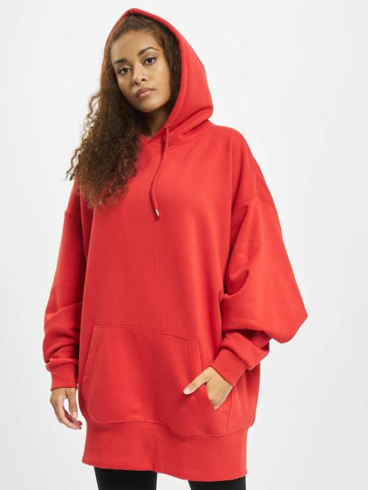 Urban Classics Hoodie Long Oversize red