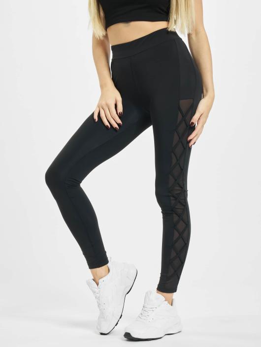 Urban Classics Leggings/Treggings Ribbon Mesh black