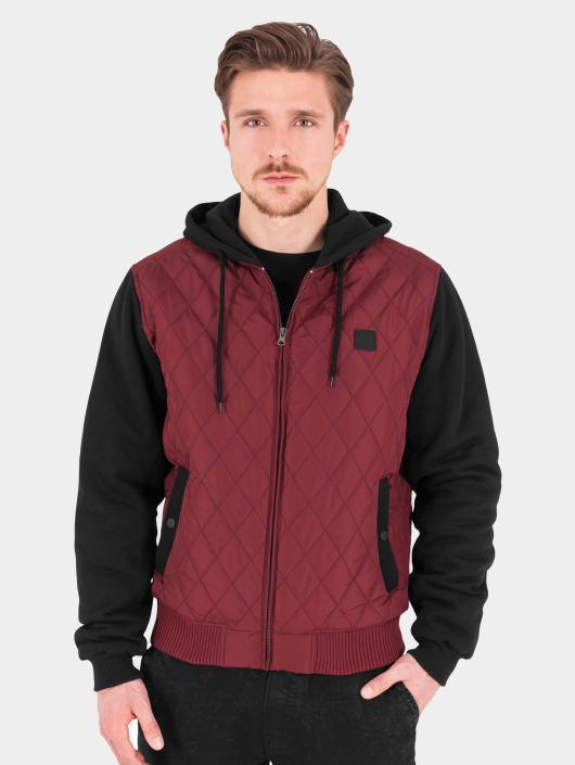 Urban Classics Lightweight Jacket Hooded Diamond Quilt red