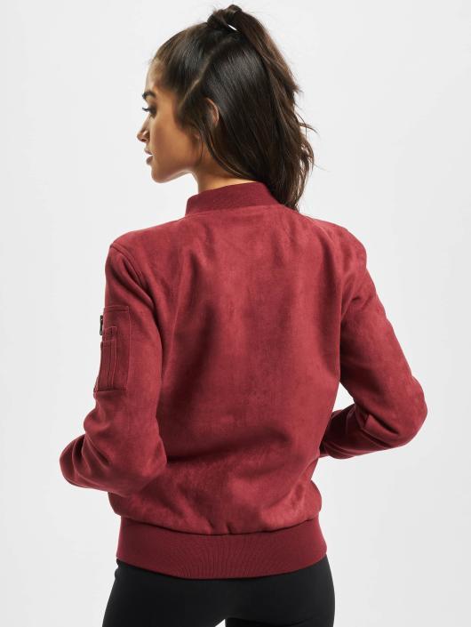 Urban Classics Lightweight Jacket Imitation Suede red