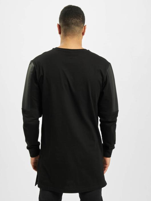 Urban Classics Longsleeve Leather Imitation Block black