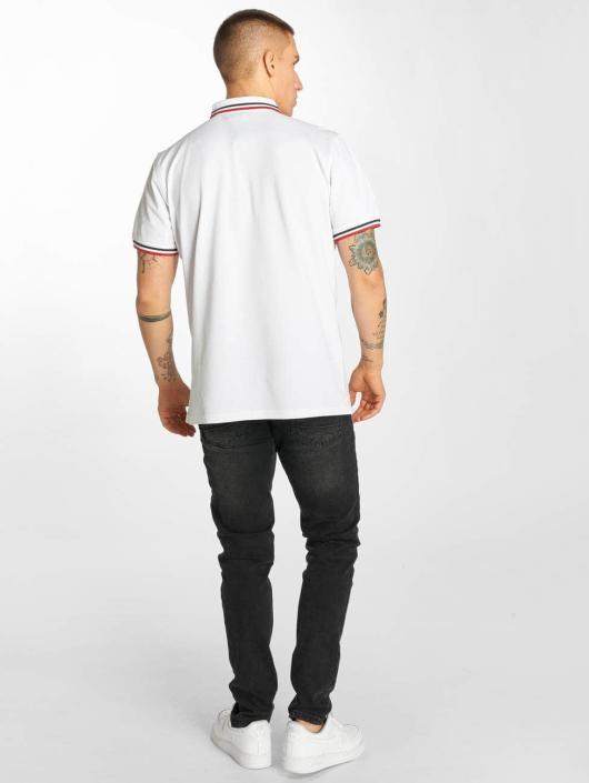 Urban Classics Poloshirt Double Stripe white
