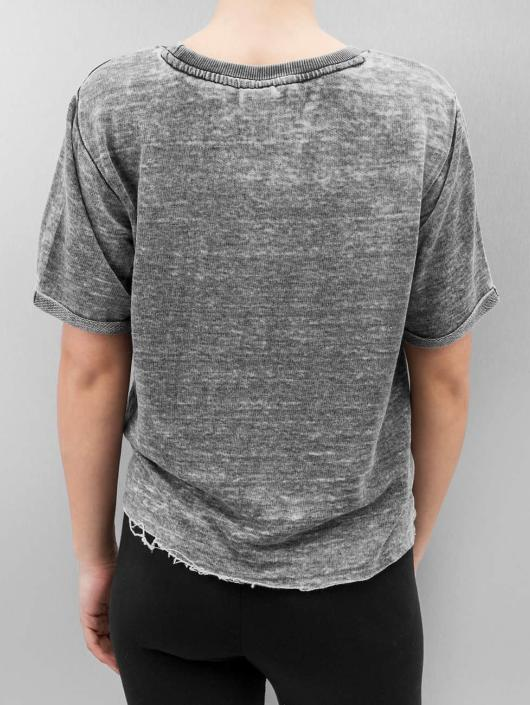 Urban Classics Pullover Cropped Burnout Short Sleeve gray