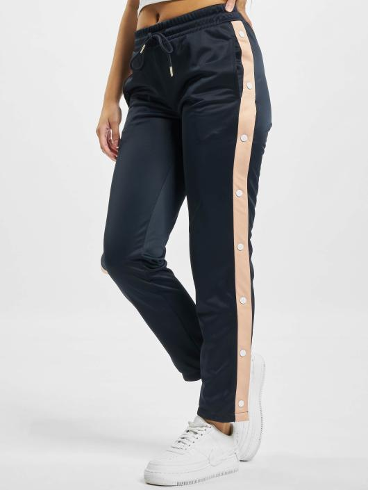 Urban Classics Sweat Pant Button Up blue