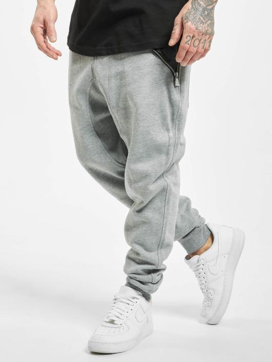 Urban Classics Sweat Pant Side Zip Leather Pocket gray
