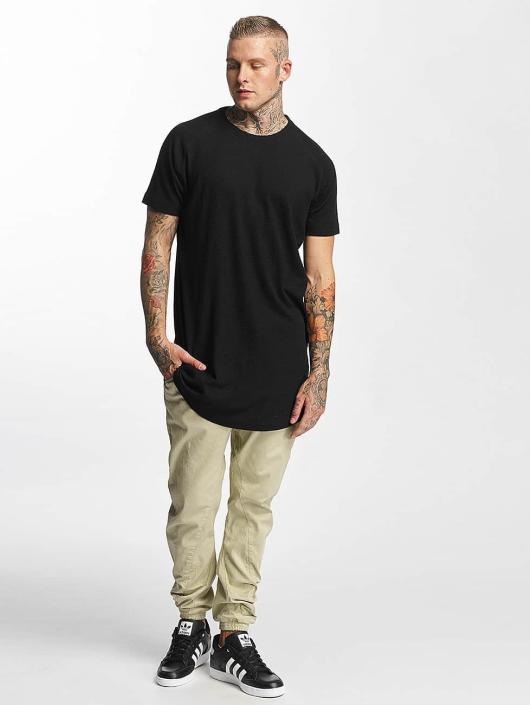 Urban Classics T-Shirt Thermal Slub Raglan black