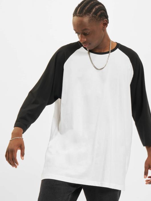Urban Classics T-Shirt Contrast 34 Sleeve Raglan white