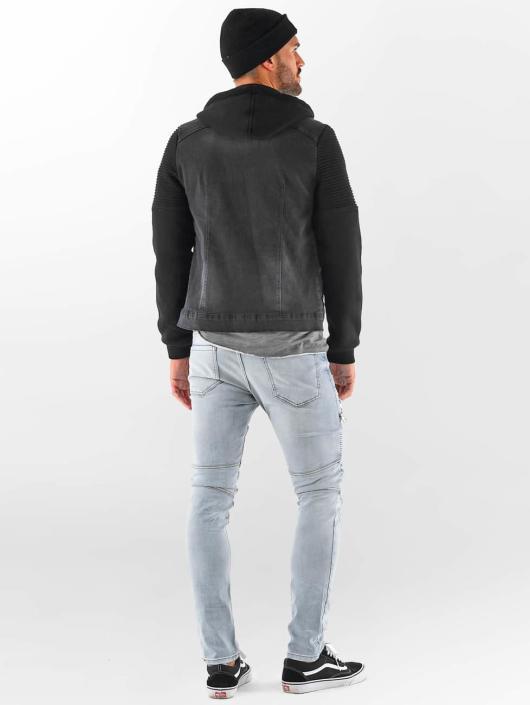 VSCT Clubwear Denim Jacket Customized Biker black