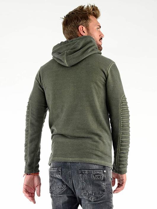 VSCT Clubwear Hoodie Biker Oilwash khaki