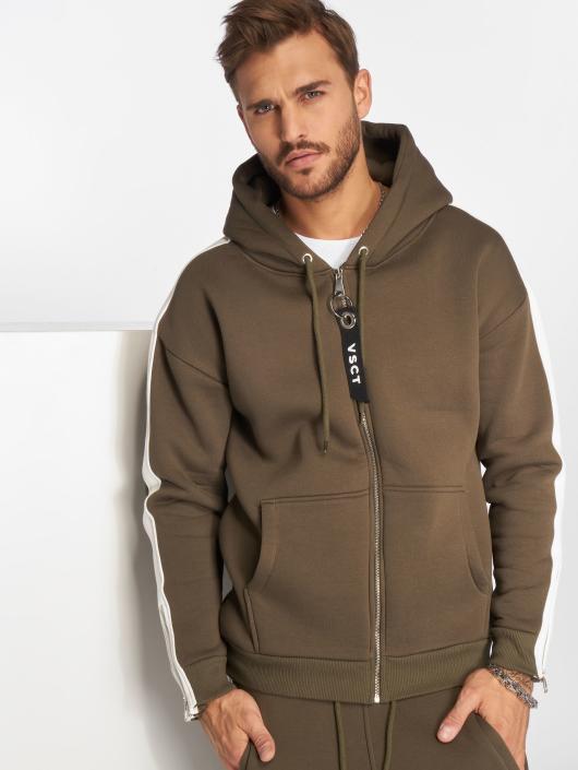 VSCT Clubwear Zip Hoodie Striped khaki