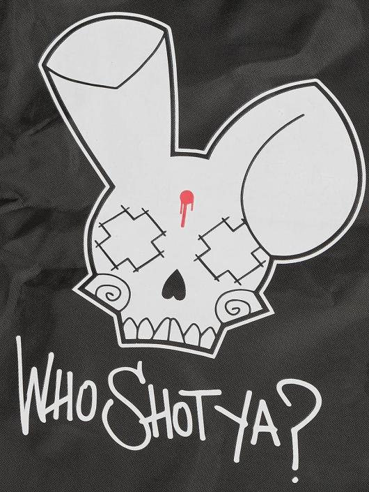 Who Shot Ya? Beutel Logo black
