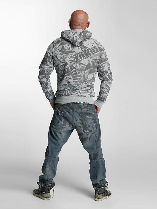Yakuza Hoodie Gunner Allover gray