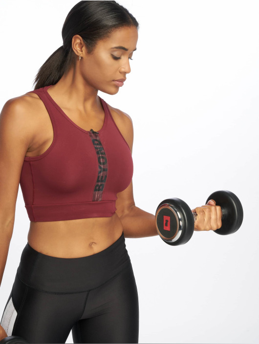 Beyond Limits Sports Bra Intense Front Zip red