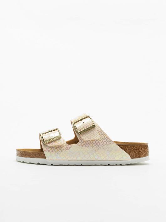 Birkenstock Sandals Arizona BF Shiny Snake beige