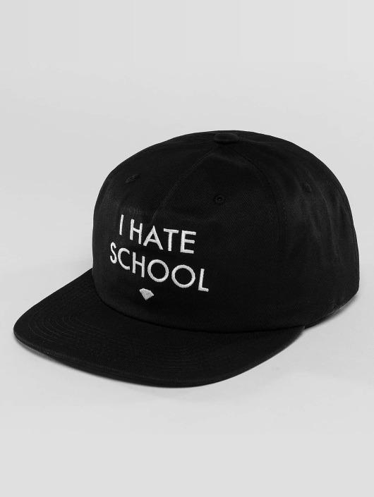 Diamond Snapback Cap I Hate School black