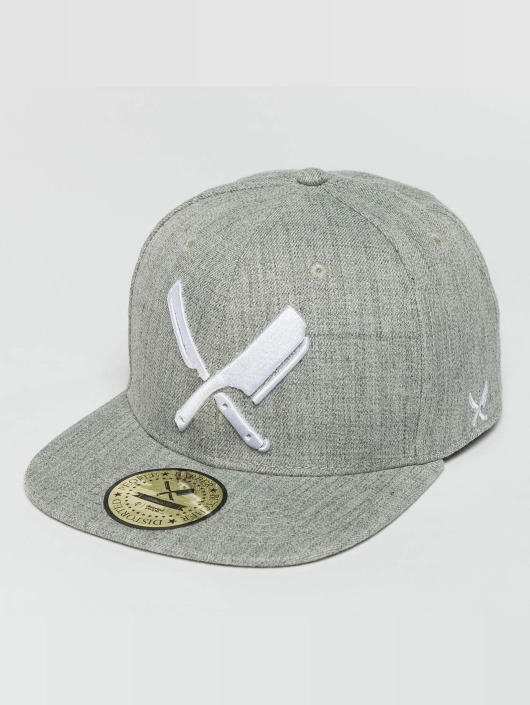 Distorted People Snapback Cap Barber & Butcher gray