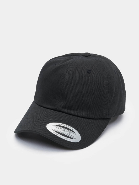 Flexfit Snapback Cap Low Profile Cotton Twill black