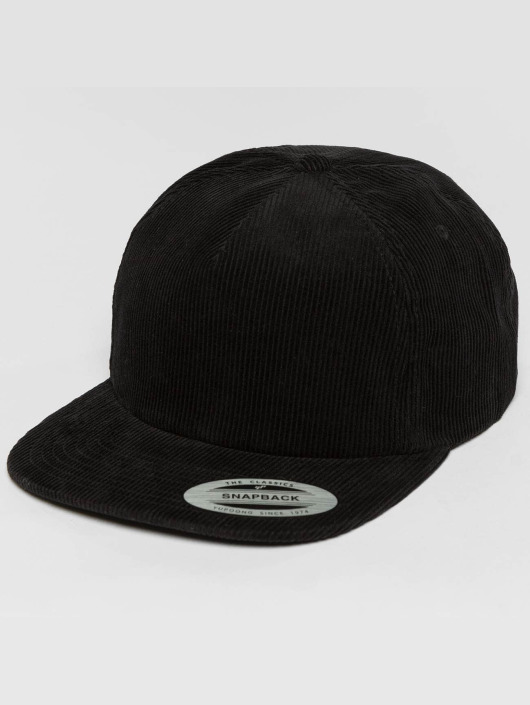 Flexfit Snapback Cap Premium Corduroy black
