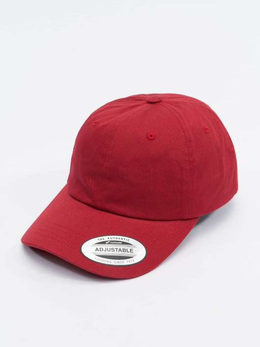 Flexfit Snapback Cap Low Profile Cotton Twill red