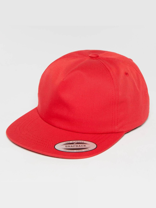 Flexfit Snapback Cap Unstructured red