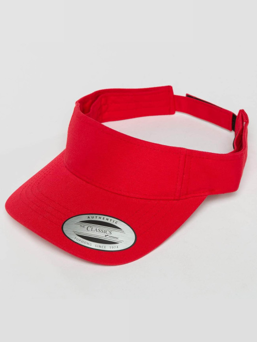 Flexfit Snapback Cap Curved Visor red