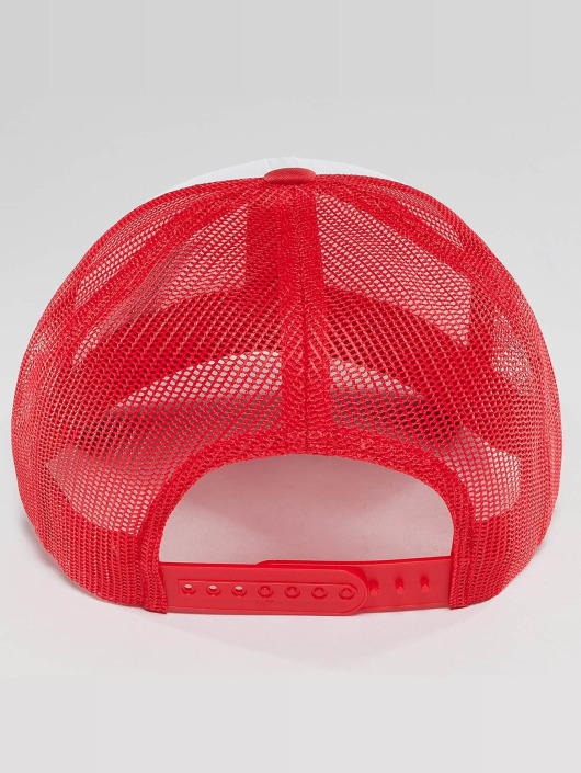 Flexfit Trucker Cap Retro Colored Front red