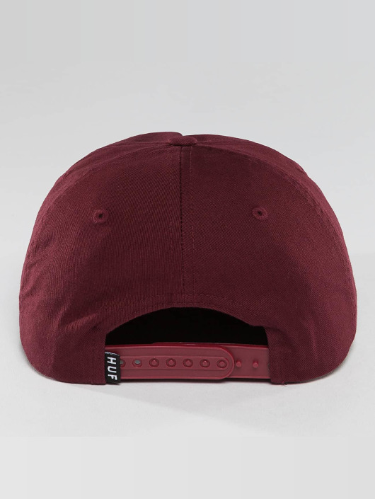 HUF Snapback Cap Box Logo red