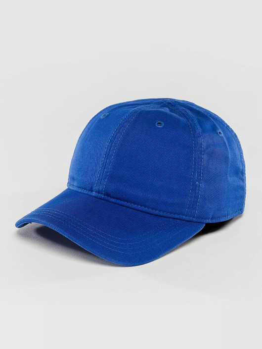 Lacoste Snapback Cap Gabardine Croc blue