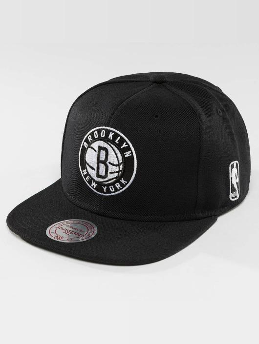 Mitchell & Ness Snapback Cap Black & White Brookyln Nets black