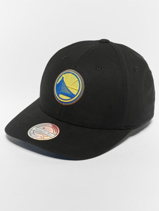 Mitchell & Ness Snapback Cap NBA Golden State Warriors Biowashed Zig Zag 110 Curved black