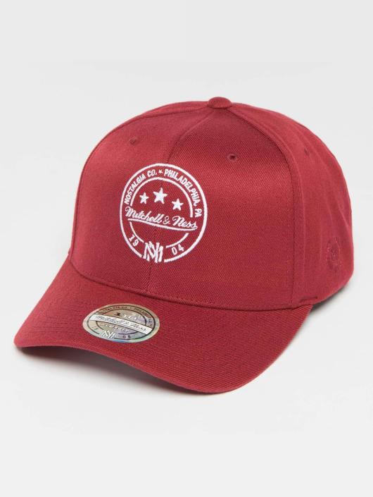 Mitchell & Ness Snapback Cap The Burgundy 2-Tone Visor Sticker 110 red