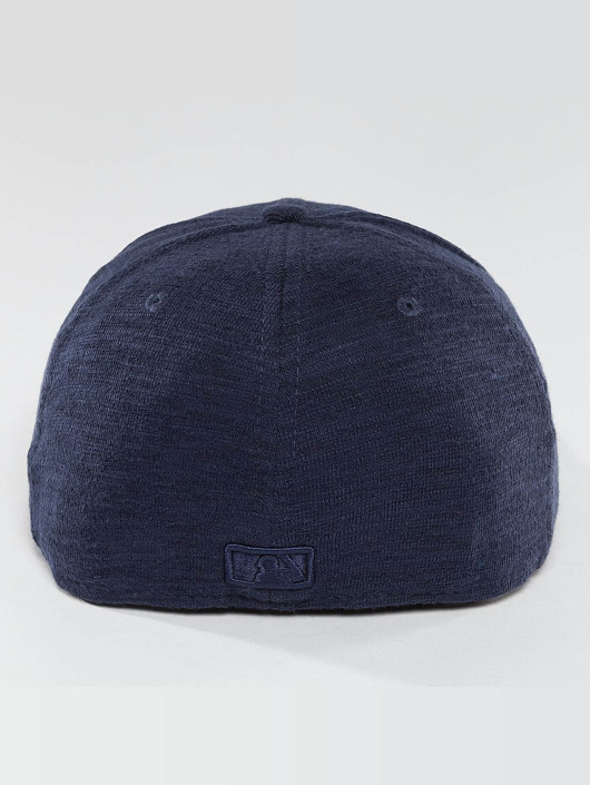New Era Fitted Cap Slub blue