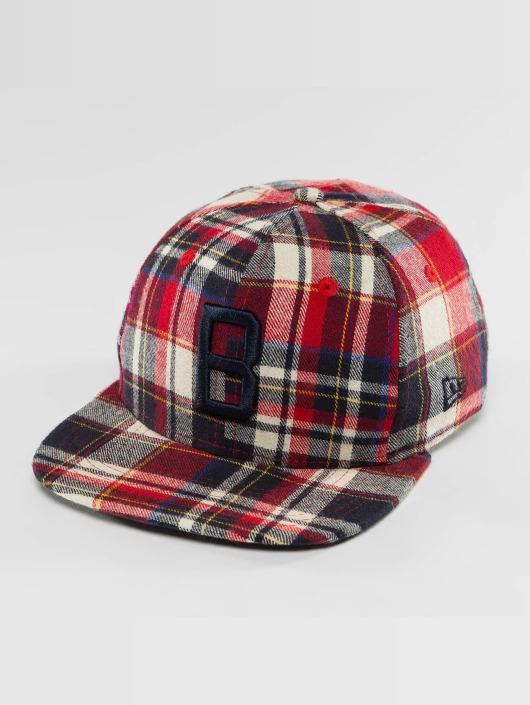 New Era Snapback Cap Plaid Brooklyn Dodgers 9Fifty red